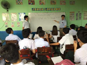 フィリピンの私立学校での支援